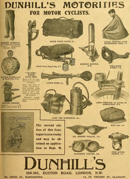 1910 DUNHILL AD