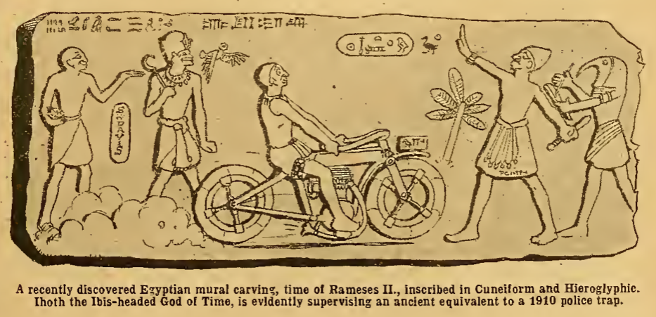 1910 EGYPTIAN CARTOON