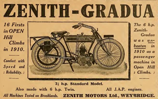 1910 ZENITH GRADUA AD