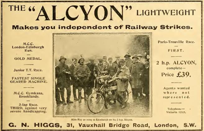 1911 ALCYON STRIKE AD