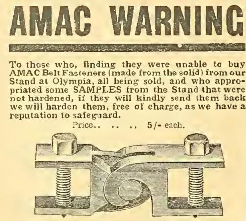 1911 AMAC ADVERT A:W