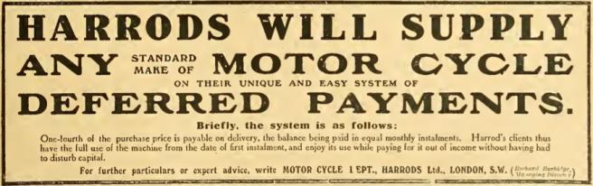 1911 HARRODS AD