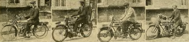 1912 FRANCE 4RIDERS