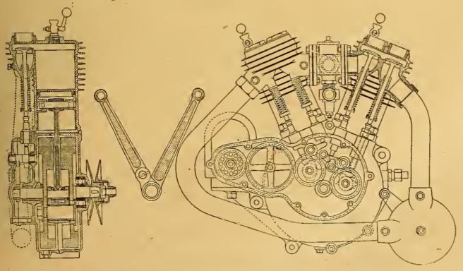 1912 HUMBER V2 ENGINE