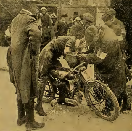 1912 TT HASWELL GASSING UP