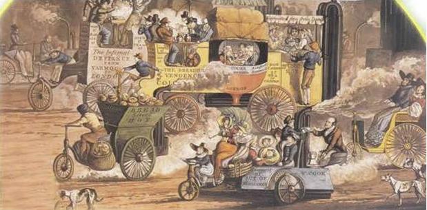 1840 STEAMER TRAFFIC JAM