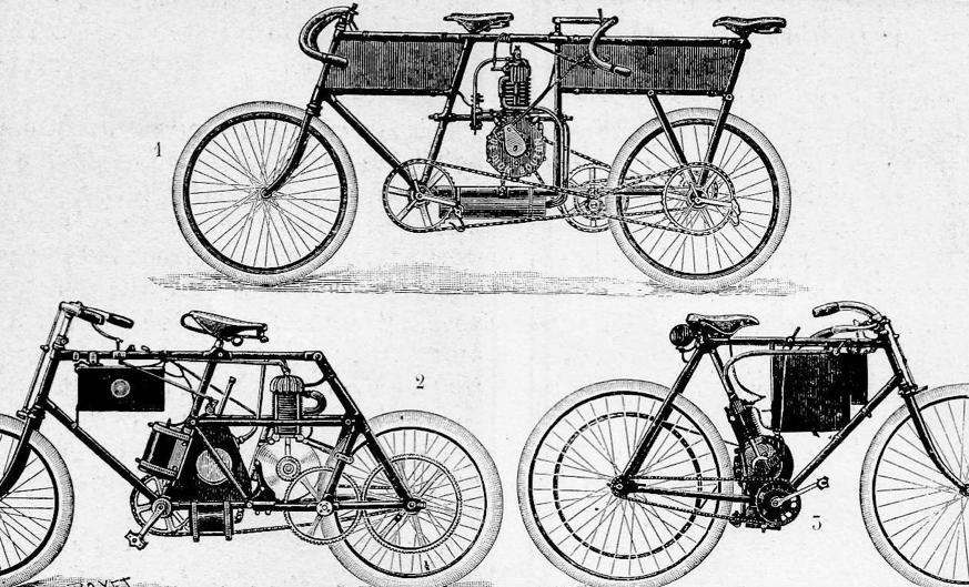 1899 THREE BIKES