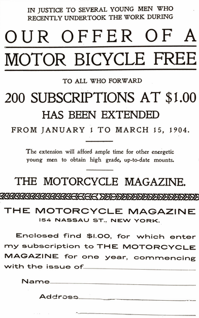 1903 SUBSCRIPTION AD