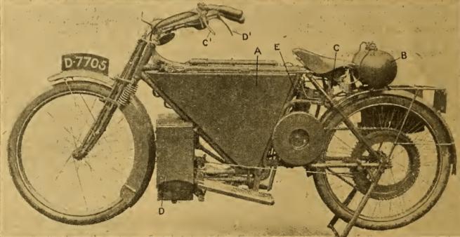 1912 PEARSON-COX STEAMBIKE