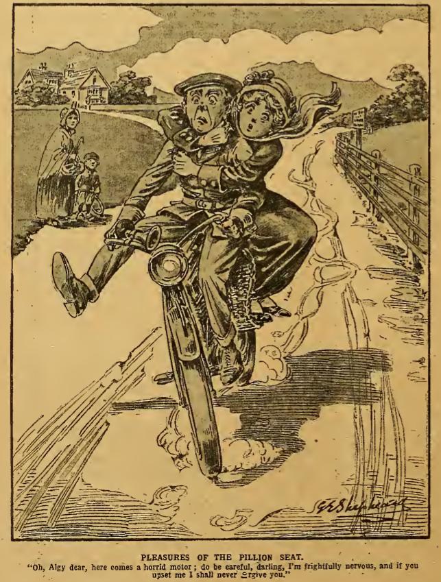1912 PILLION CARTOON