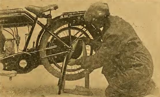 1912 SUNBEAM TYRE