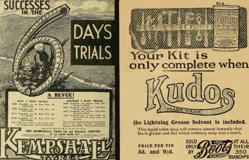 1913 KEMPSHALL KUDOS ADS