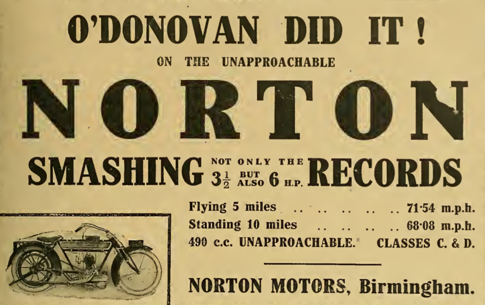 1913 NORTON RECORDS