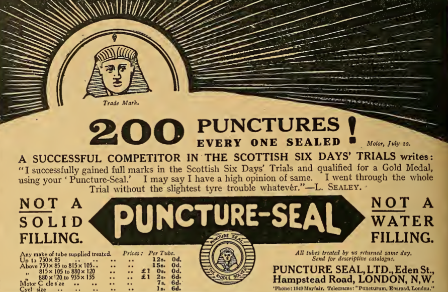 1913 PUNCTURE SEAL AD