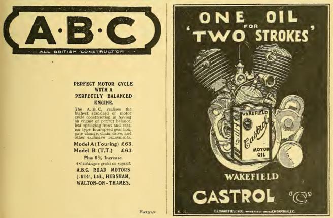 1915 ABC-CASTROL AD
