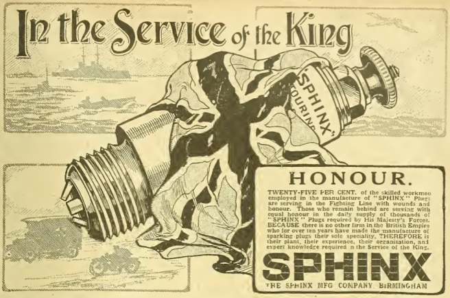 1915 SPHINX AD