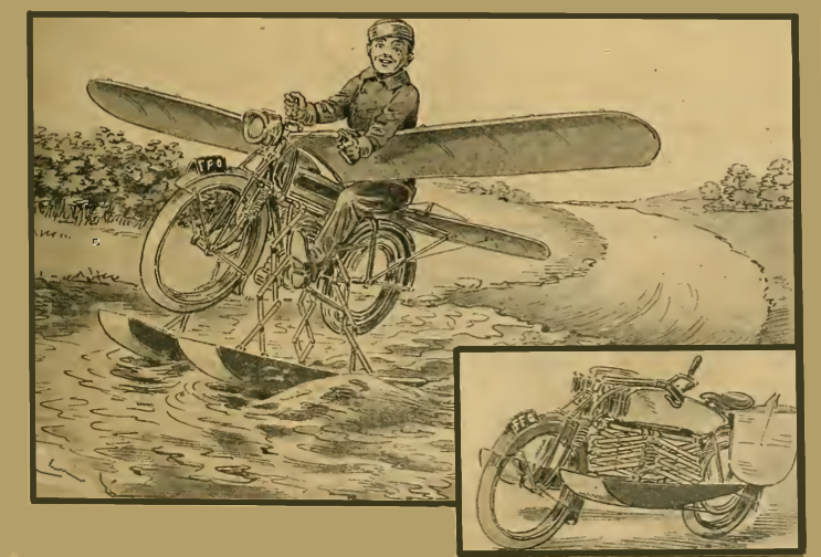 1913 MOTORCYCLEWATERPLANE