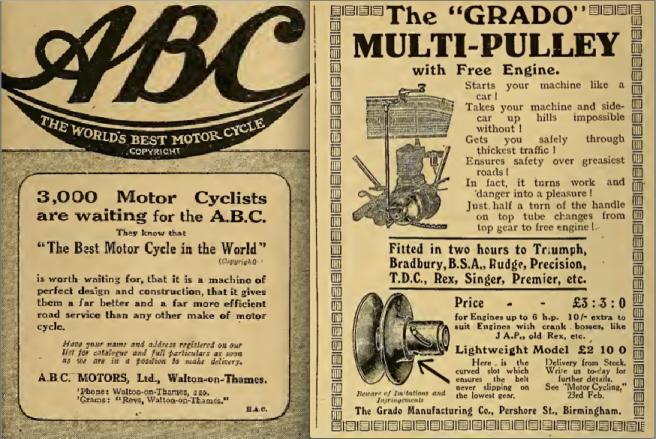 1916 ABC GRADO ADS