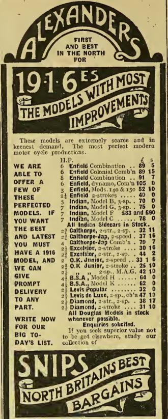 1916 ALEXANDERS AD