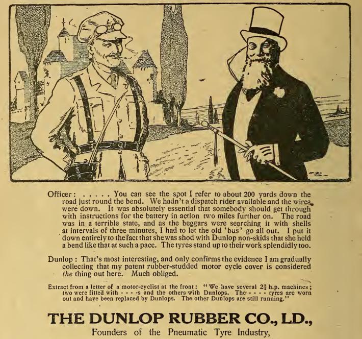 1916 DUNLOP AD