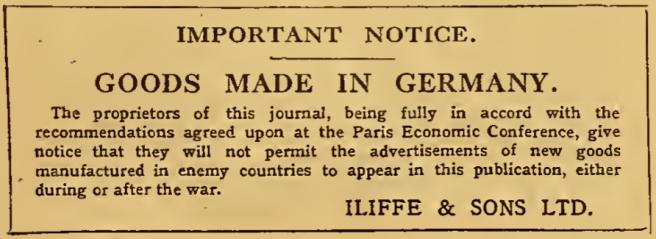 1916 GERMAN BAD