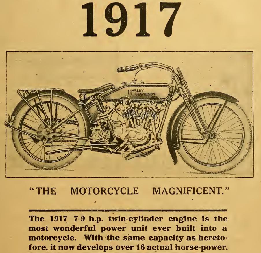 1916 HARLEY 1917 AD