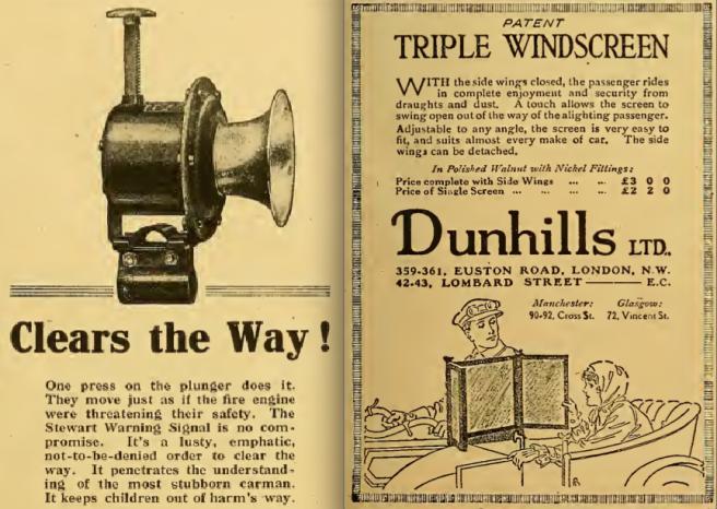1916 HORN SCREEN ADS