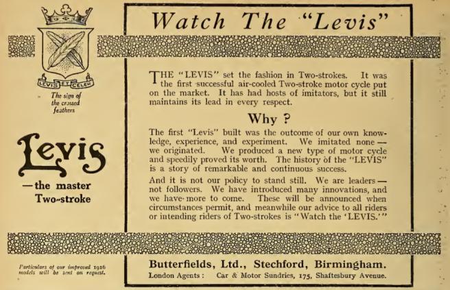 1916 LEVIS AD
