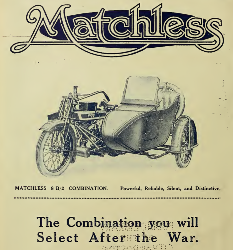 1916 MATCHLESS AD
