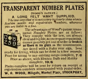 1916 NOPLATE AD