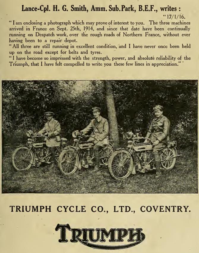1916 TRIUMPH DRS AD