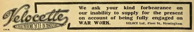 1916 VELOCETTE AD