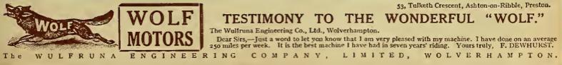 1916 WOLF AD