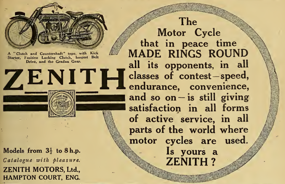 1916 ZENITH AD