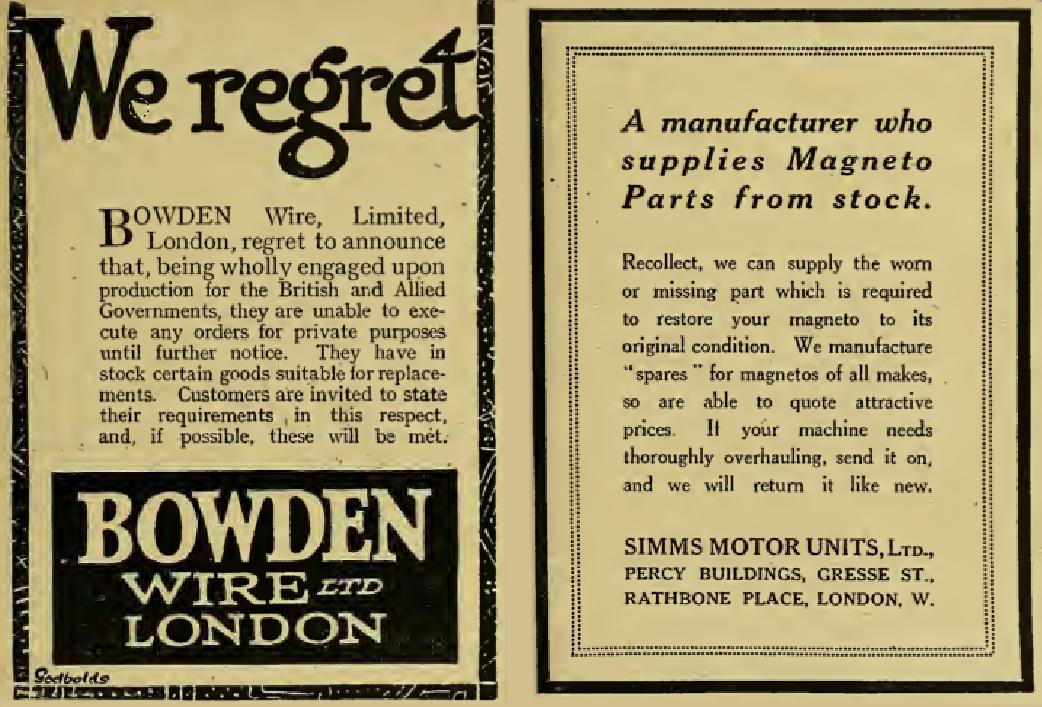 1917 BOWDEN SIMMS ADS
