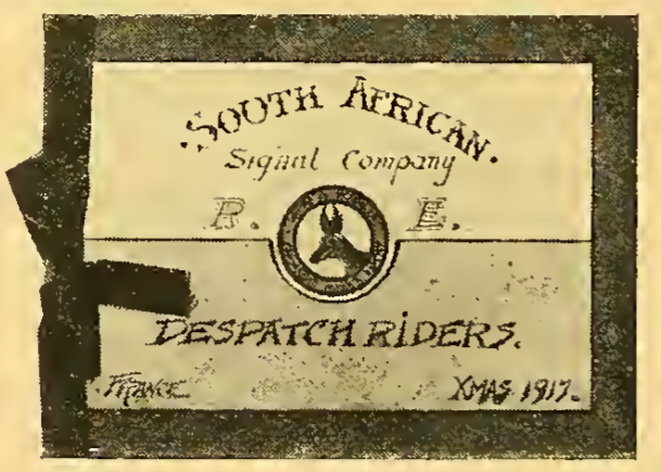 1917 DESPATCH CARD