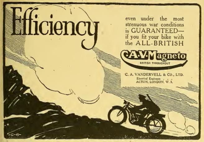1918 CAV MAG AD