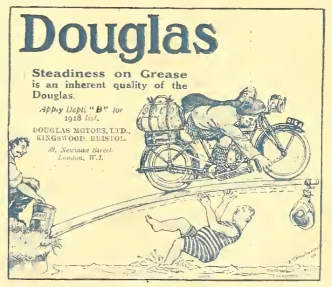 1918 DOUGLAS GREASE AD