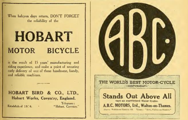 1918 HOBART ABC ADS