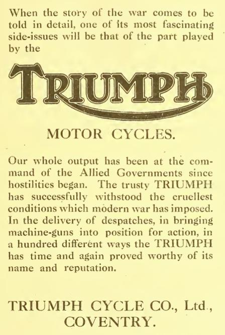 1918 TRIUMPH AD