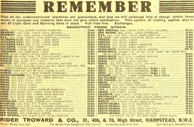 1918 TROWARD AD