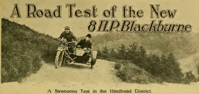 1919 BLACKBURNE 8HP TEST AW