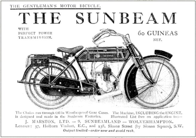 1912 1ST SUNBEAM AD
