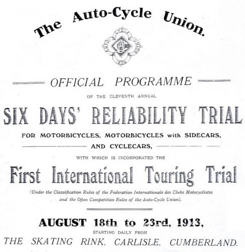 1913 6DT PROGRAMME