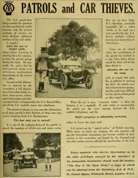 1919 AA THEFT AD
