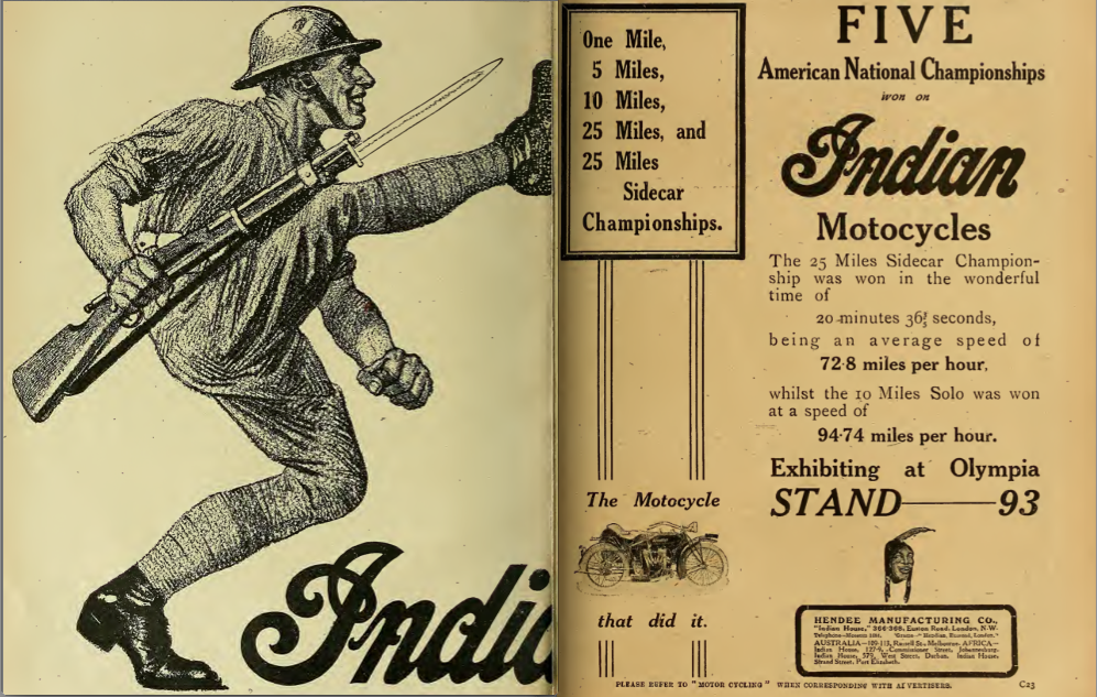 1919 INDIAN ADS