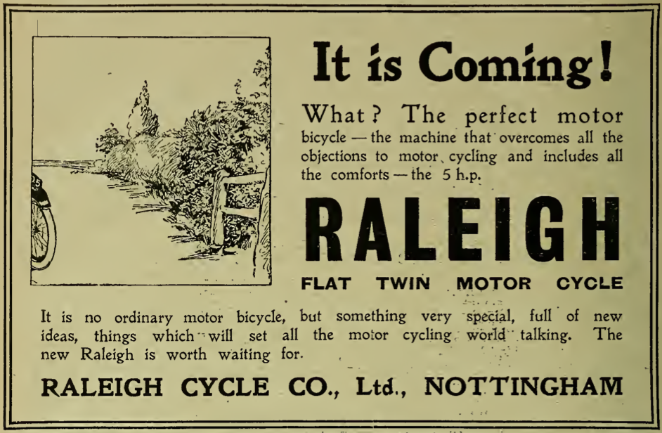1919 RALEIGH AD