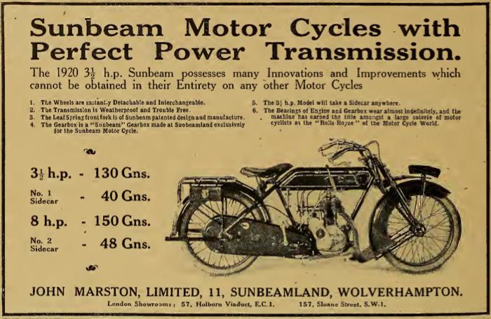 1919 SUNBEAM AD2