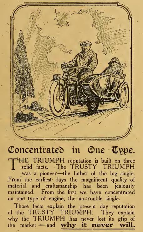 1919 TRIUMPH TRUSTY AD