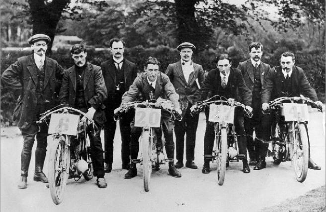 1914 AJS TT TEAM